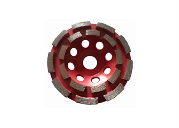 Red 4 Inch Diamond Cup Wheel Concrete Grinding Wheel For Grinder
